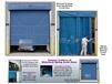 MOTORIZED BUG BLOCKING SCREENED MESH CURTAIN DOORS